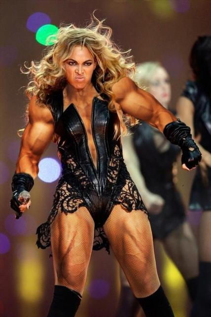 muscles beyonce
